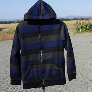 Youth Tony Hawk fleece lined hoodie full zip EUC M